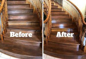 Hardwood Repair Before and After Overton Flooring Bells TN